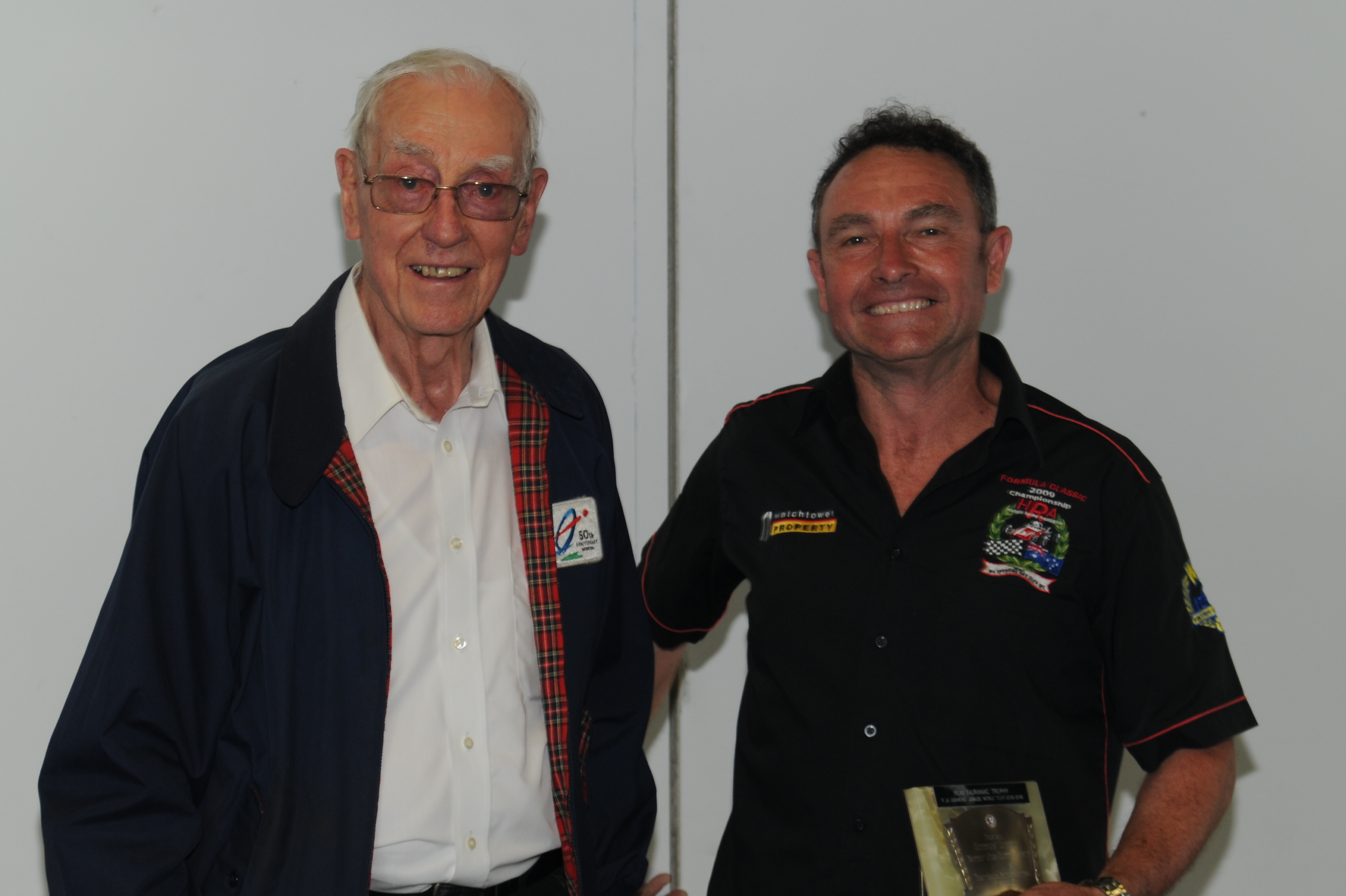 Overall winner of the Australian Section - Martin Bullock with Trophy donor Ron Tauranac