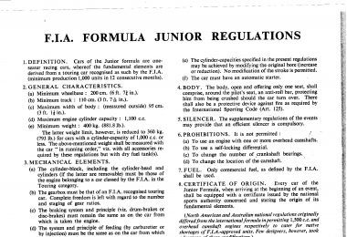 FJ Regulations, period Regulations